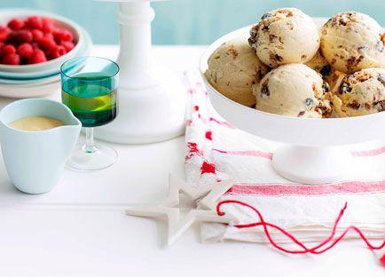 Australian Gourmet Traveller Christmas dessert recipe for Christmas pudding semifreddo.