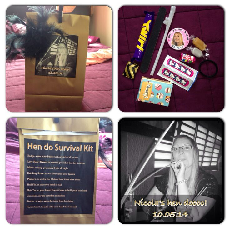 Hen do survival kit made for my friends hen party!