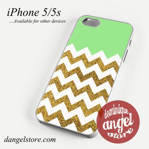 Glitter Gold Chevron Phone case for iPhone 4/4s/5/5c/5s/6/6 plus