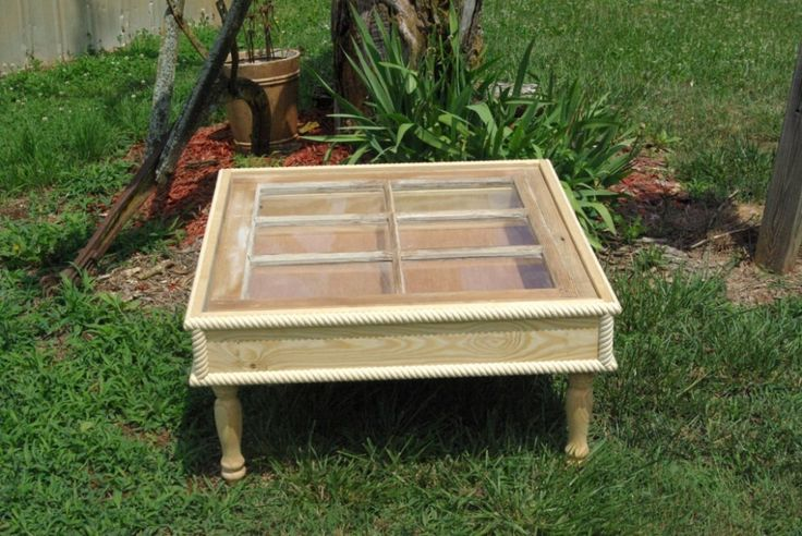 Shadow Box Window Coffee Table 32x32 by wooddesignsby on Etsy, $375.00