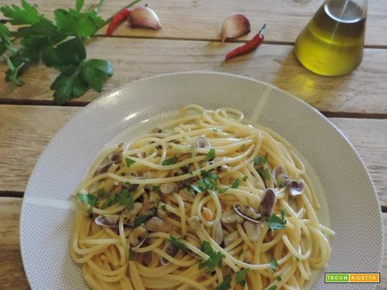 Spaghetti con telline. #ricette #food #recipes