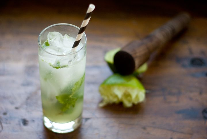 Ginger Mint Limeade (with Gin)