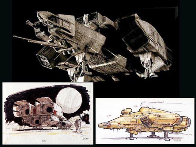 Nostromo (Alien) ... Brian Johnson, Chris Foss, Ron Cobb.