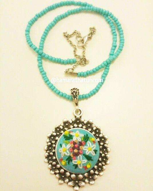 Papatya kolye – çiçekli kenar