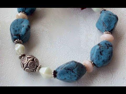 Perle effetto pietra turchese (polymer clay tutorial)