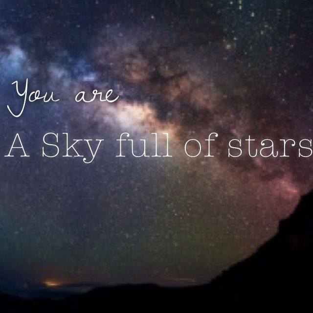 A Sky full of stars #coldplay Ghost stories  #stars #newsingle