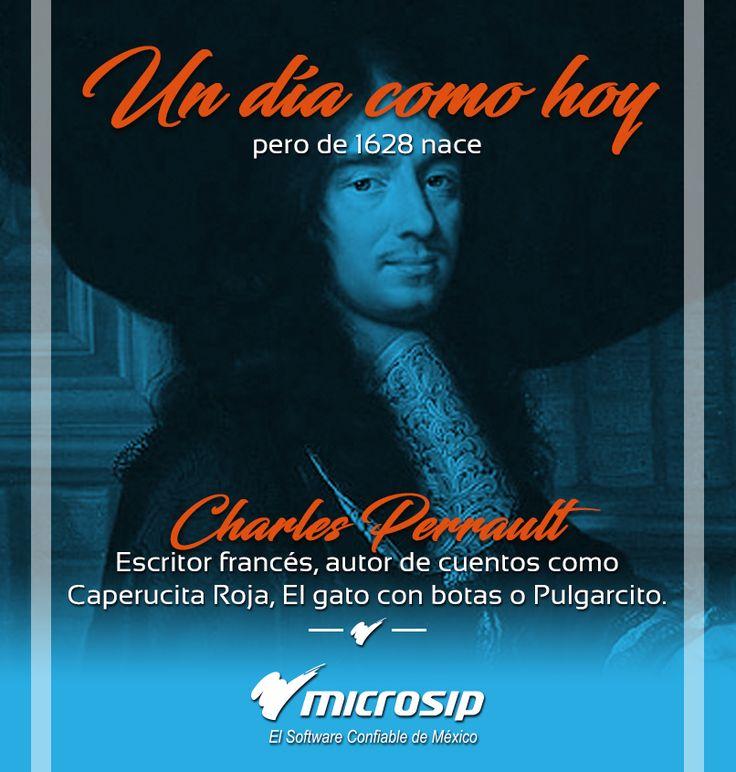 #UnDíaComoHoy pero de 1628 nace Charles Perrault, escritor francés, autor de cuentos como Caperucita Roja, El gato con botas o Pulgarcito.