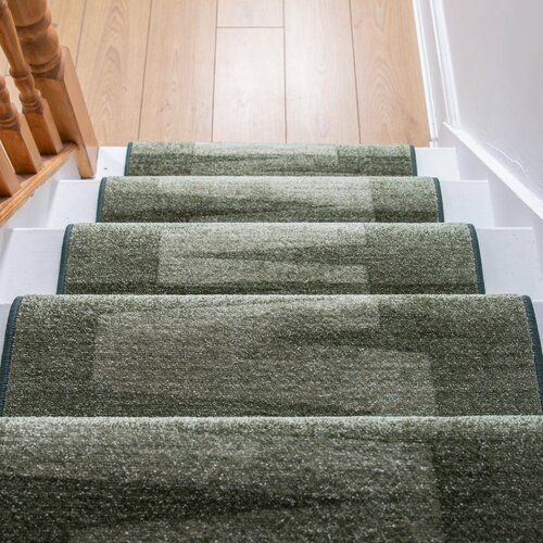40 Brilliant Under The Stairs Employment Ideas: Benedick Tufted Dark Green Stair Runner Ebern Designs Rug