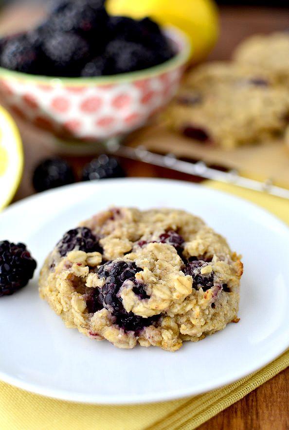 Lemon Blackberry Breakfast Cookies are gluten free, dairy free, egg free, and FABULOUS! | iowagirleats.com