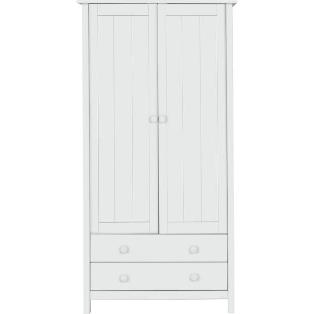 Buy HOME Kids Scandinavia Tall 2 Door 2 Drawer Wardrobe - White at Argos.co.uk, visit Argos.co.uk to shop online for Children's wardrobes, Children's furniture, Home and garden