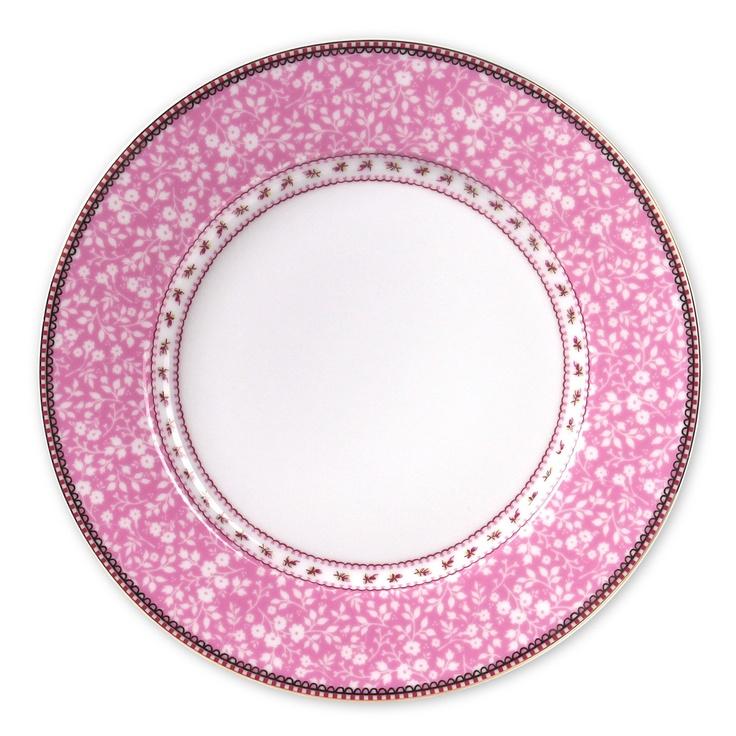 Petite Rose Pink Dinner Plate Set of 6