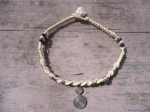 Celtic Spiral Hemp Ankle Bracelet | HempMajic - Jewelry on ArtFire