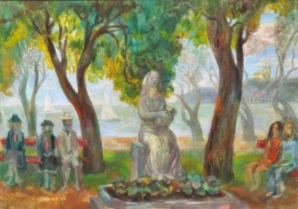 SZABÓ VLADIMIR (1905-1991) - Füredi parton