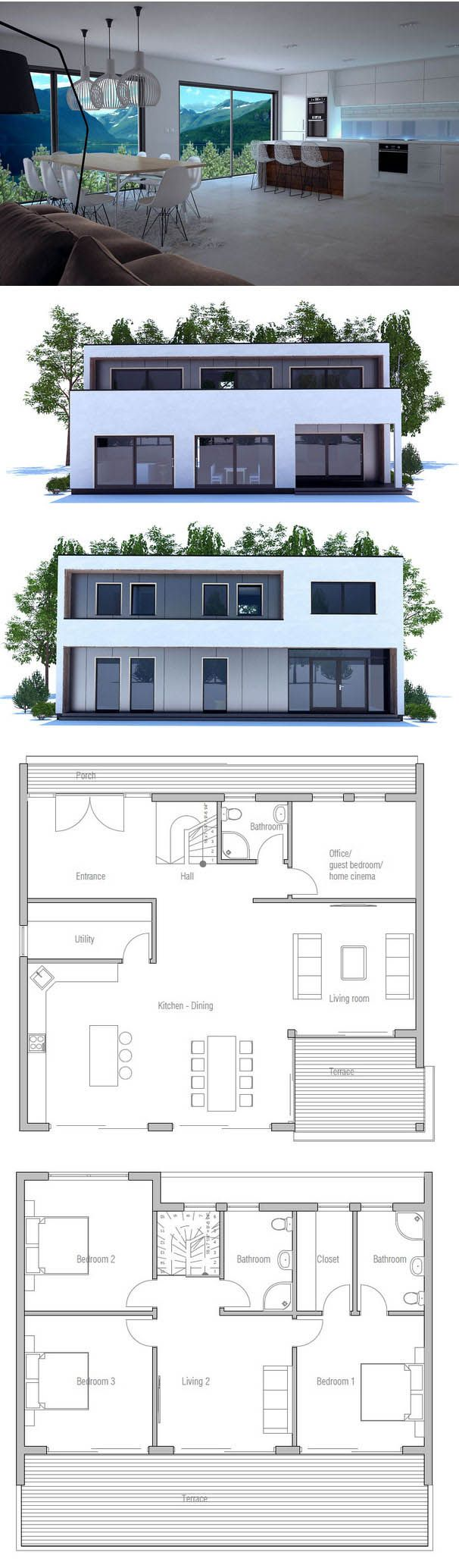 Architektur haus grundrisse traumhaus einrichtung moderne haus pläne kleine häuser techno minecraft balkone