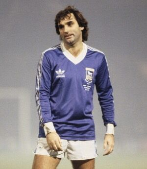 George Best, one of the greatest ever players from these shores. Here playing for Ipswich Town in Bobby Robson's testimonial game in 1978
