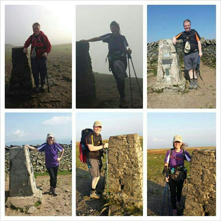 at the top of each of the 3 peaks - an awesome day - want to do it again now!
