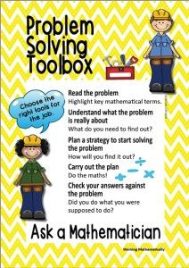 Just one of the products in the Ask a Mathematician problem solving toolbox resource by Project Nature-Ed.
