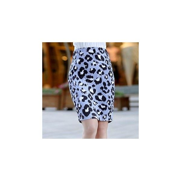 Leopard Print Pencil Skirt (1045 RSD) ❤ liked on Polyvore featuring skirts, women, blue pencil skirt, leopard pencil skirts, leopard print pencil skirts, leopard print skirt and pencil skirt