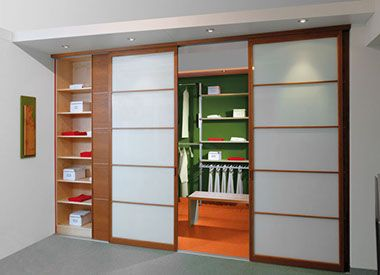 Begehbarer Kleiderschrank Eichenhaus Schiebetüren Holz Japan Sprossen
