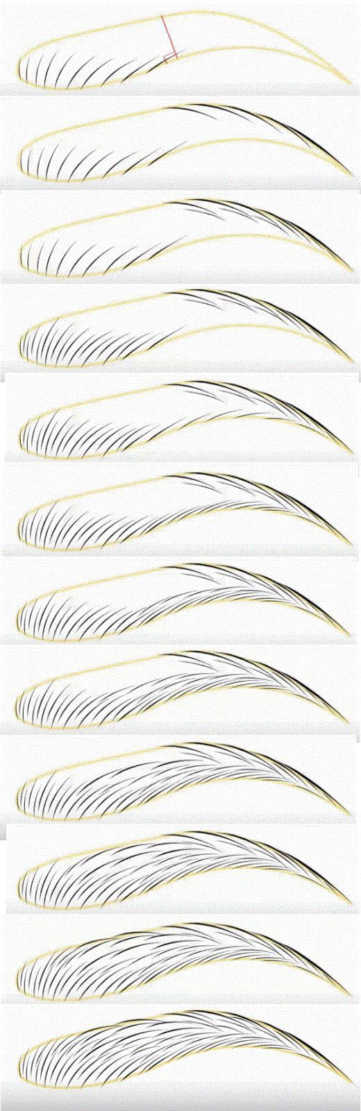 Microblading brow shape