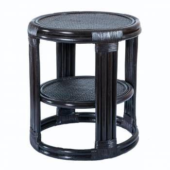 Barrel Side Table - Wenge
