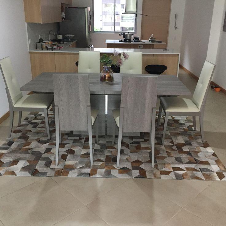 Tapete Krisna - Rug Krisna Patchwork leather rug Cuero