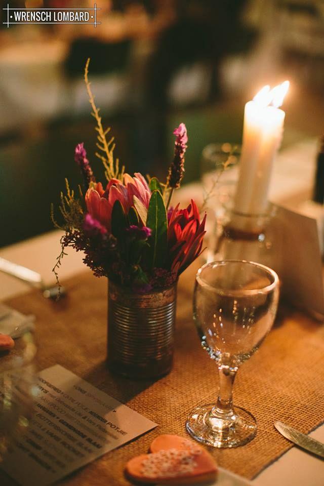 De Uijlenes wedding venue, décor, fynbos