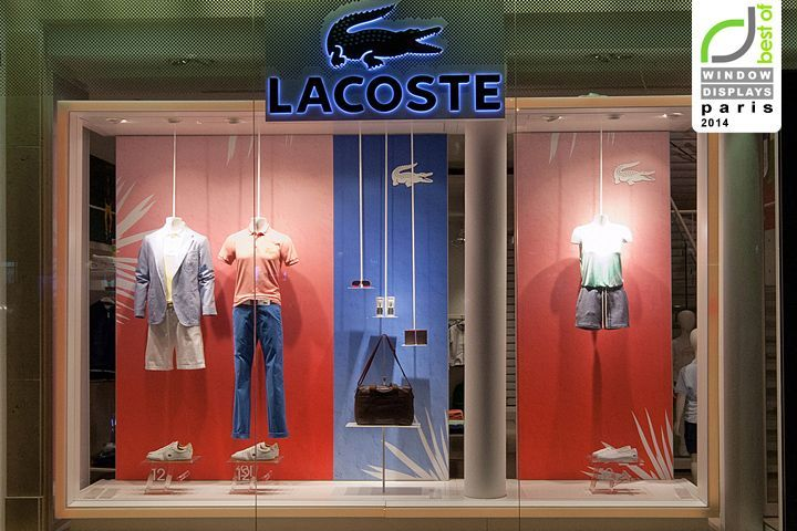 complementarios Lacoste windows 2014 Summer, Paris – France