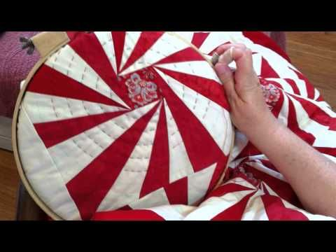 ▶ Big Stitch Hand Quilting Demonstration - Minick and Simpson - YouTube
