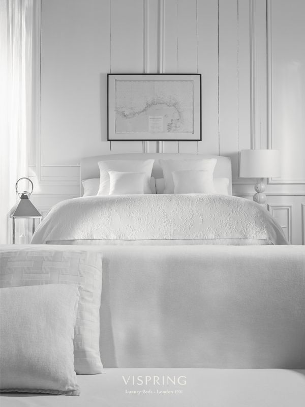 Sun-bleached shades, rustic wood and a cool, contemporary flair.  #VispringInspiration #bed #blackandwhite #luxurybeds #sweet #night