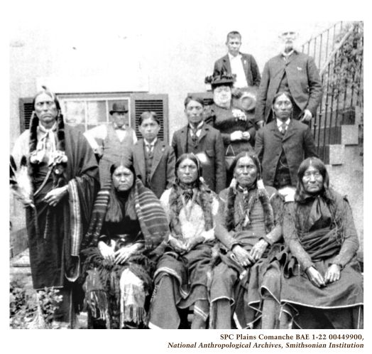 """Although the Native American Church traces its roots to the 1880s, Quanah Parker is regarded as one of the first leaders of the movement. After being gored by a bull while traveling in South Texas, a Coahuiltecan Indian curandera healed Parker by nursing him with a strong peyote tea. Later, he learned the """"half-moon"""" style of the peyote ceremony from a Lipan Apache medicine man, and brought the religion back to the Comanches and other tribes in Indian Territory."""