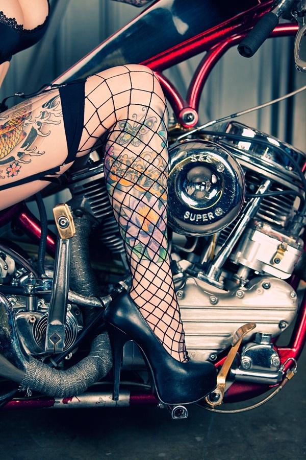 76 best biker tattoos images on pinterest biker tattoos for Biker chick tattoos