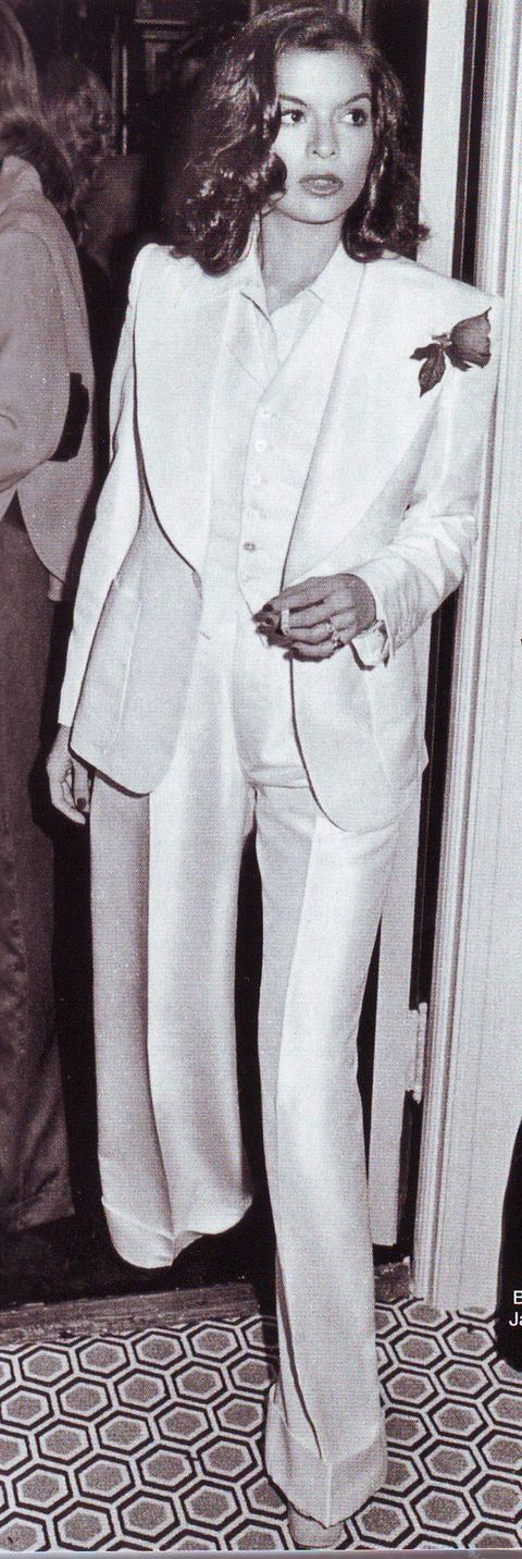 Bianca Jagger in YSL.  Is there anything hotter?