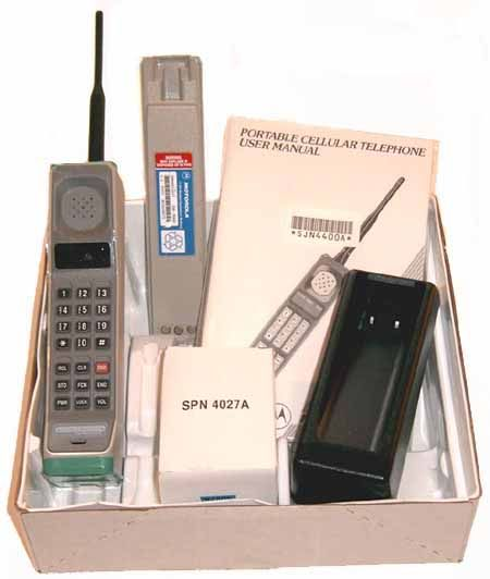 """OK, I didn't but this phone originally but I did get one on eBay.  It actually worked as recently as about 2007 or so.  The original Motorola Dynatac """"brick phone"""" had 30 minutes of battery life, weighed a couple pounds, and cost $3995 at launch in 1983!"""