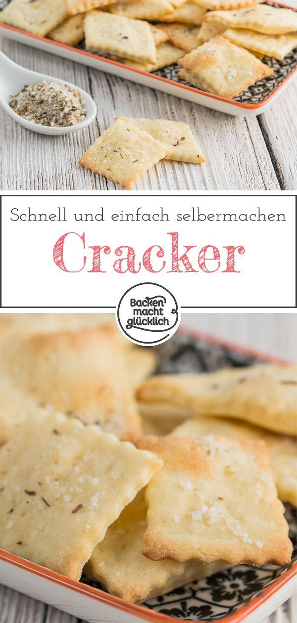 15-Minuten-Cracker sind extrem einfach und in fünfzehn Minuten fertig.   – Pikante Backrezepte
