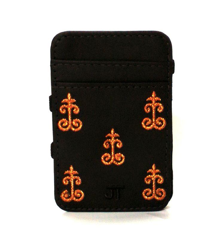 JT Magic Wallet Vintage 1 Color: Cobre and Black #couro #bordado #fashion #accessories #moda #style #design #acessorios #leather #joicetanabe #carteira #carteiramagica #courolegitimo #wallet