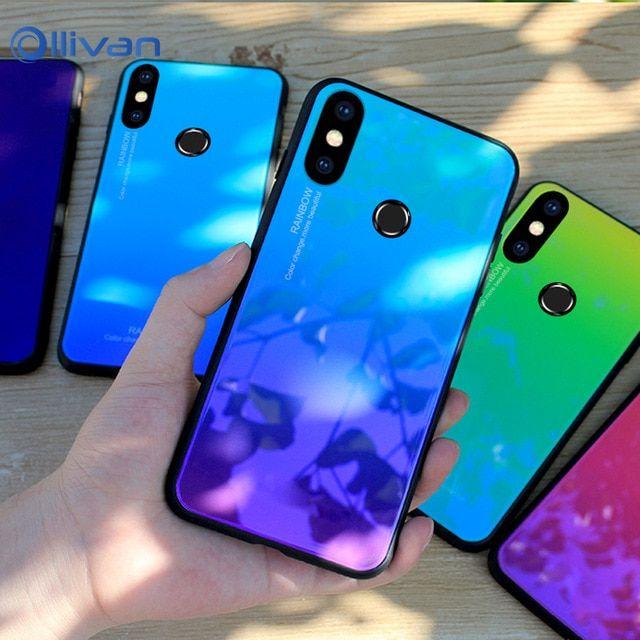 For Xiaomi Redmi Note 5 Case Rainbow Gradient Tempered Glass Cover For Xiaomi Redmi Note 5 Pro India Note 5 Global 5 99 Cases Review Capinhas De Celular Tumblr Celulares Celular