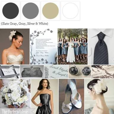 Shades of Gray...pretty for a winter wedding