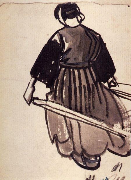 """""""Goémonière à la civière"""", musée Mathurin Méheut"""