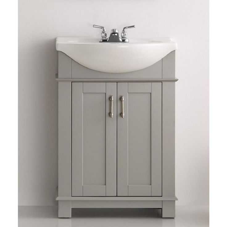 Web Image Gallery Fresca Hudson in W Traditional Bathroom Vanity in Gray with Ceramic Vanity Top in