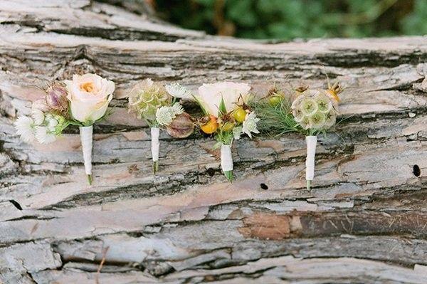 Scabiosa Pod Arrangements, Wedding Flowers Photos by Jen Rios Weddings - Image 8 of 19 - WeddingWire