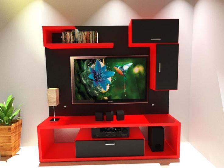 Panel lcd mueble tv modular moderno mesa tv rack - Mesas para televisores plasma ...