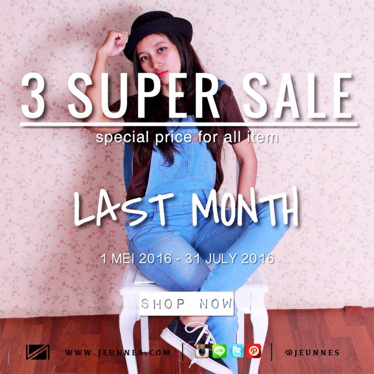 Last month of 3 SUPER SALE! Special price for all item guys so grab it fast :)