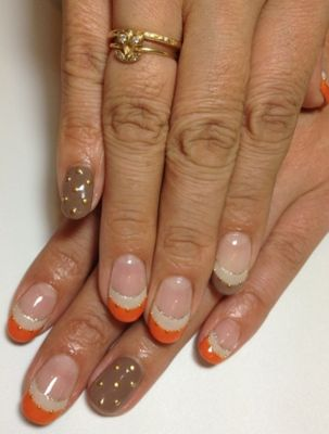 Colorful French Manicure - French Manicure Designs and Ideas