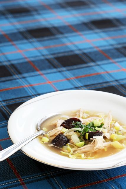 Scottish food: Cock-a-Leekie soup - perfect for the Burns Supper