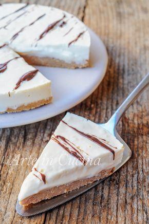 Crostata fredda al cioccolato bianco dolce veloce vickyart arte in cucina