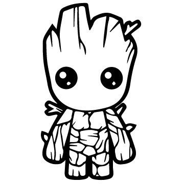 Vinyl Decal Sticker - Baby Groot Decal for Windows, Cars, Laptops, Macbook, Yeti, Coolers, Mugs etc