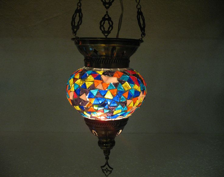 turkish blue mosaic hanging lamp glass light lampe. Black Bedroom Furniture Sets. Home Design Ideas