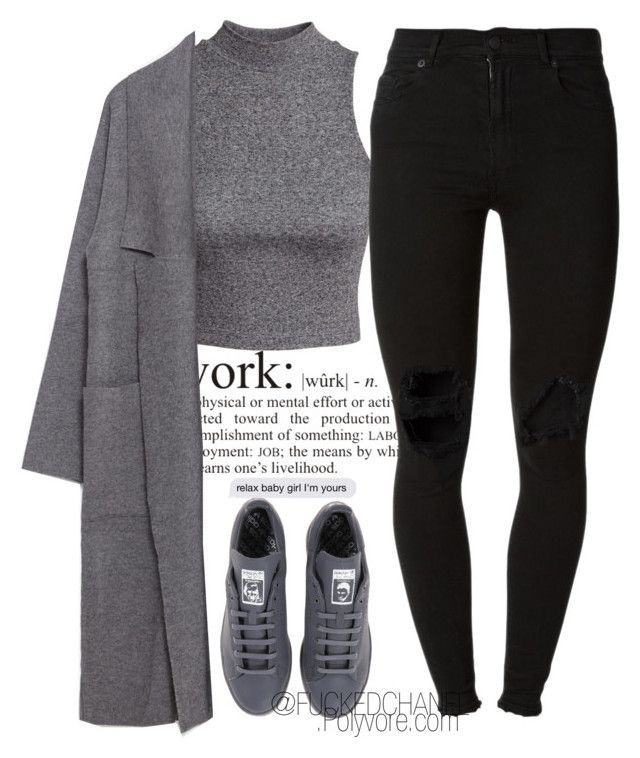 """..."" by fuckedchanel ❤ liked on Polyvore featuring H&M, adidas, Zara, (+) PEOPLE, women's clothing, women, female, woman, misses and juniors"