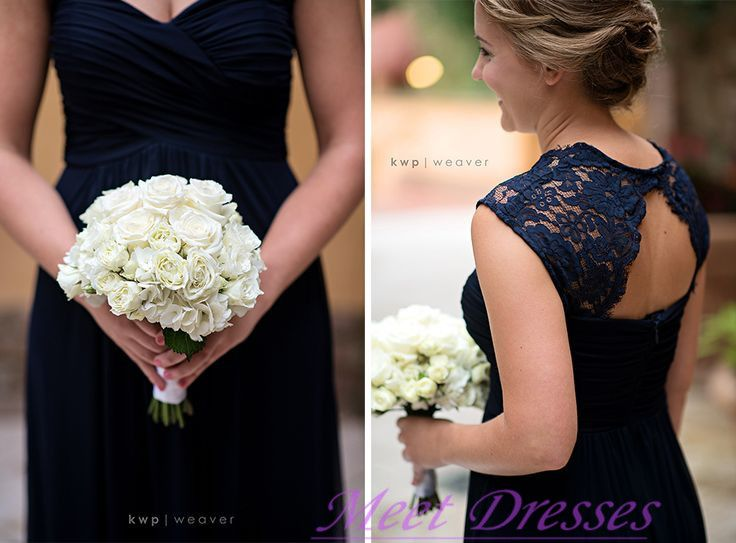 Navy Blue Bridesmaid Dresses With Cap Sleeves Summer Open Back 2015 Lace Dark Blue Bridesmaid Gown For Weddings · meetdresses · Online Store Powered by Storenvy